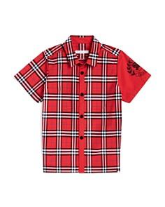 Burberry Boys' Sammi Check Emblem Shirt - Little Kid, Big Kid - Bloomingdale's_0