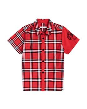 Burberry - Boys' Sammi Check Emblem Shirt - Little Kid, Big Kid