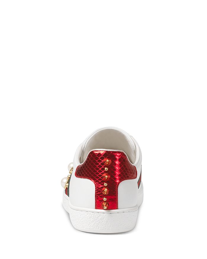 hot sale online c7216 cd515 Gucci - Women s Ace Studded Leather Sneaker