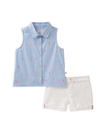 kate spade new york - Girls' Mini Ice Pops Shirt & Cuffed Shorts Set - Baby