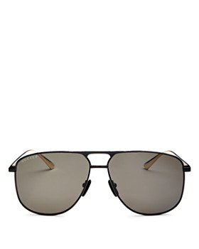 Gucci - Men's Brow Bar Aviator Sunglasses, 65mm
