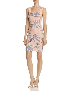 Aqua Palm Print Scalloped Body-Con Dress - 100% Exclusive 2994464