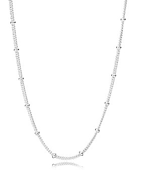 """Pandora - Sterling Silver Beaded Chain Necklace, 27.5"""""""