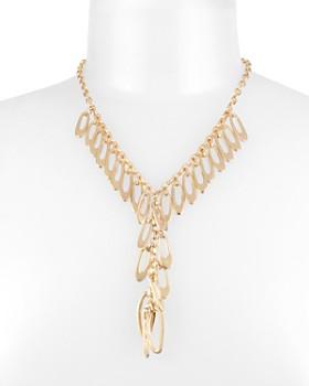 """Robert Lee Morris Soho - Shakey Link & Loop Lariat Necklace, 17.5"""""""