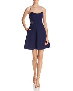 216753bc7d2 Aidan by Aidan Mattox - Lace-Inset Crepe Dress - 100% Exclusive ...