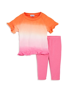 Splendid Girls Ombre Ruffled Tee  Leggings Set  Baby