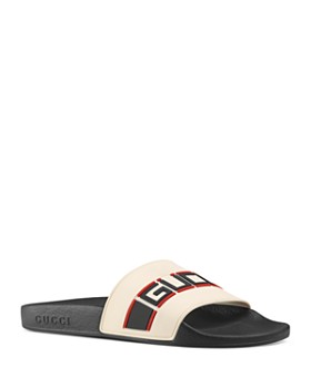 ebdb12a55a561f Gucci - Women s Pursuit Stripe Slide Sandals ...