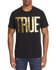 True Religion Gold Foil Logo Tee - Bloomingdale's_0
