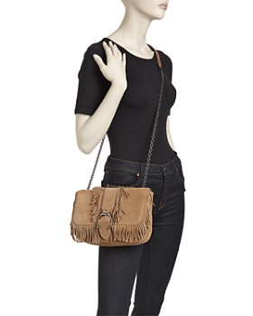 Longchamp - Amazone Folk Small Nubuck Leather Crossbody