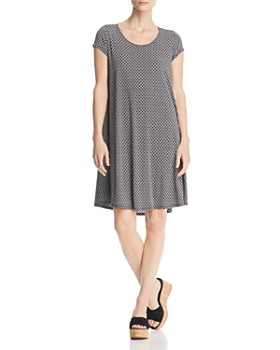 Robert Michaels - Circle-Print Trapeze Dress