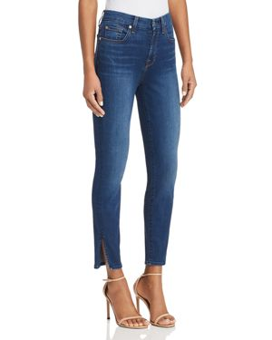 7 For All Mankind Aubrey Side-Slit Skinny Jeans in B(air) Fresh Rinse 2986240