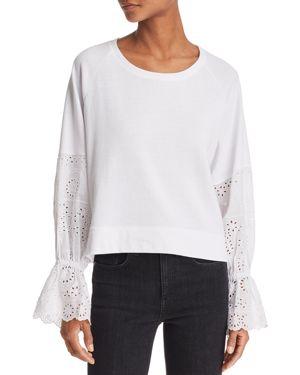 Generation Love Penelope Eyelet-Sleeve Sweatshirt