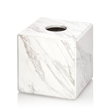 Waterworks - Studio White Marble Tissue Holder