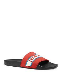 Gucci - Women's Pursuit Stripe Slide Sandals