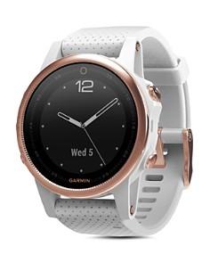 Garmin - fenix5S Sapphire Premium Multisport GPS White Smartwatch, 42mm