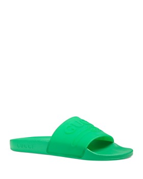 798d99eb0 Gucci - Women's Pursuit Logo Pool Slides ...