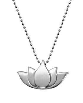 """Alex Woo - Little Faith Lotus Necklace, 16"""""""