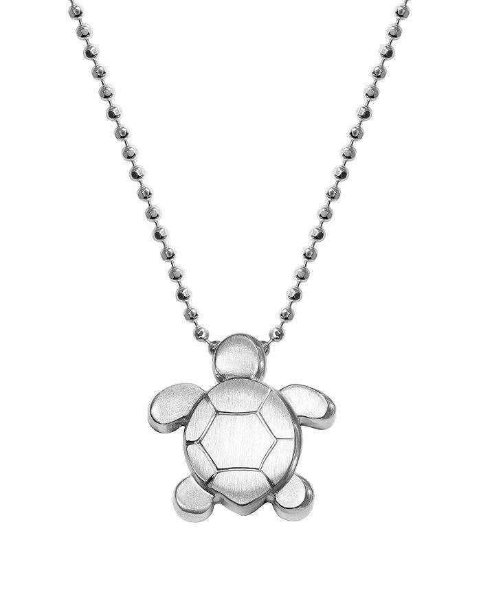 """Alex Woo - Silver Season Turtle Necklace, 16"""""""