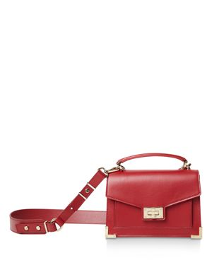 Emily Small Leather Satchel, Burgundy