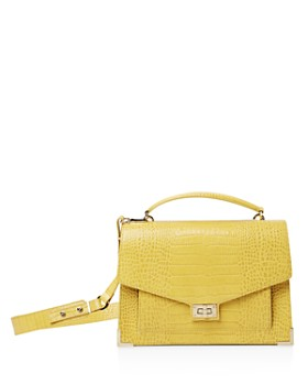The Kooples - Emily Croc-Embossed Leather Maxi Crossbody