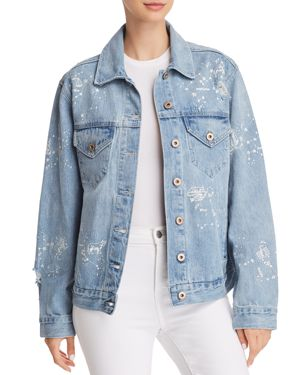 PISTOLA BOYFRIEND ASTROLOGY DENIM JACKET