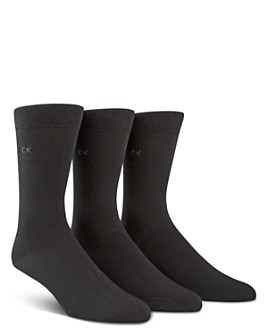 Calvin Klein - Combed Flat Knit Sock, Pack of 3