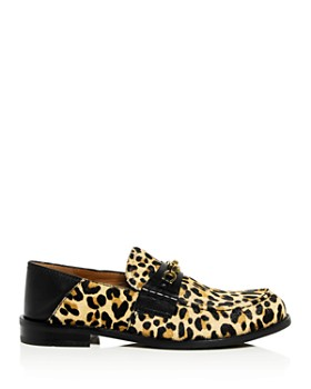COACH - Women's Putnam Leopard Print Calf Hair Loafers