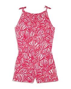 Vineyard Vines Girls' Nautilus Shell-Print Knit Romper - Big Kid, Little Kid - Bloomingdale's_0
