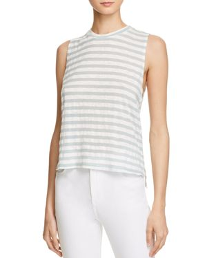 MICHELLE BY COMUNE STRIPE MUSCLE TANK