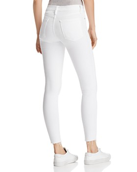 FRAME - Le Skinny De Jeanne Raw Stagger Jeans in Blanc