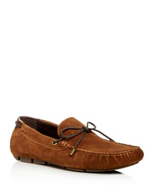 KENNETH COLE Men'S Engle Suede Moc Toe Drivers in Rust