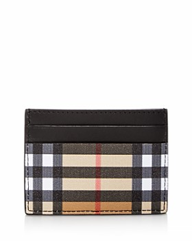 Burberry - Vintage Check & Leather Card Case