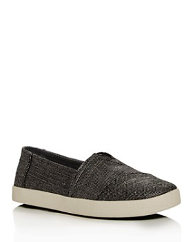 TOMS - Women's Avalon Metallic Woven Slip-On Sneakers