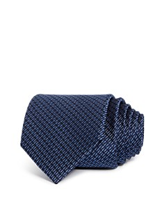 The Men's Store at Bloomingdale's Tonal Textured Geometric Skinny Tie - 100% Exclusive_0