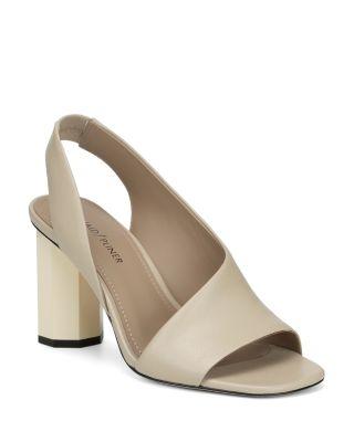 Ella Leather Column Heel Sandals