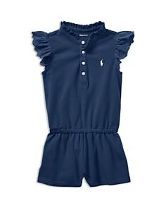 Ralph Lauren Girls' Flutter-Sleeve Romper - Baby - Bloomingdale's_0