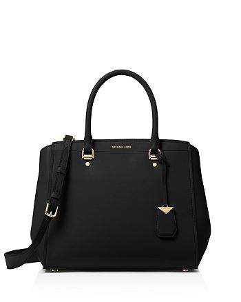ca1bf204f5d6 ... italy michael michael kors benning large leather satchel 6f12a 90a30