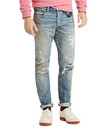 6f6fa7764a Polo Ralph Lauren Sullivan Slim-Fit Distressed Jeans in Lockwood ...