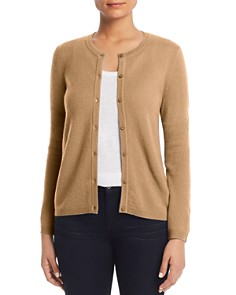 C by Bloomingdale's - Crewneck Cashmere Cardigan - 100% Exclusive