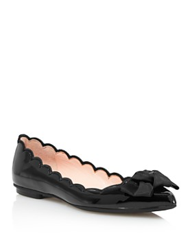 801ed5b19c8f kate spade new york - Women s Nannete Scalloped Patent Leather Pointed Toe  Flats ...