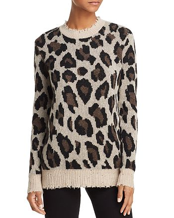 AQUA - Animal Print Cashmere Sweater - 100% Exclusive