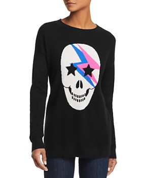 AQUA - Lightning Skull Cashmere Sweater - 100% Exclusive