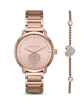 Michael Kors - Portia Watch, 36.5mm, & Pavé Heart Bracelet Set