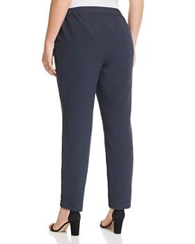 Lafayette 148 New York Plus - Manhattan Pinstriped Slim Pants