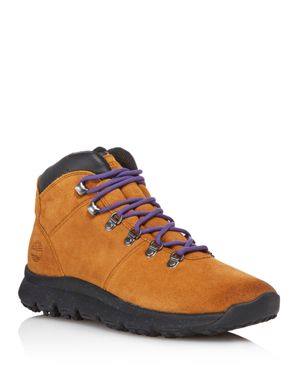 TIMBERLAND Men'S World Hiker Leather Boots Men'S Shoes in Trapper Tan