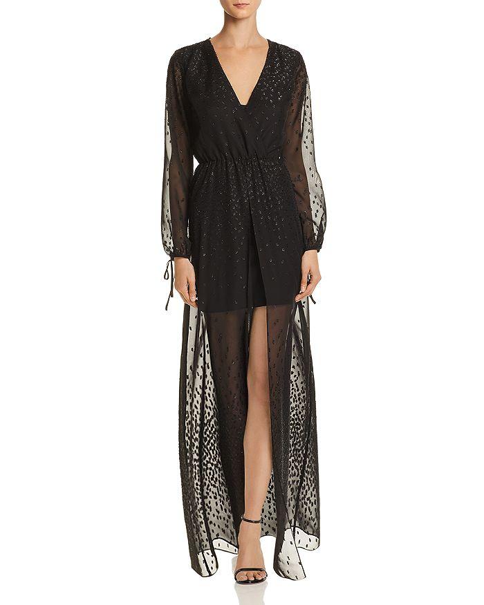 9c7b22032908 AQUA - Embroidered Chiffon Maxi Dress - 100% Exclusive