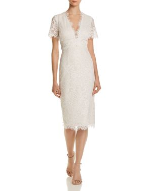 AQUA Scalloped Lace Dress - 100% Exclusive in Ivory/Ivory