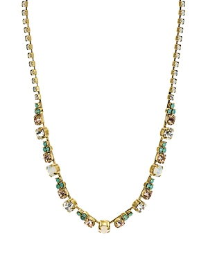 Sorrelli Faceted Glass Stations Necklace, 15