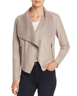 Bagatelle - Draped Faux Leather Jacket