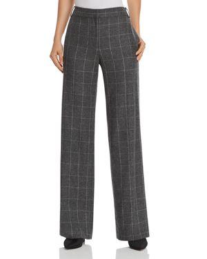 Hagan Scholastic Plaid Wool Pants, Charcoal Multi